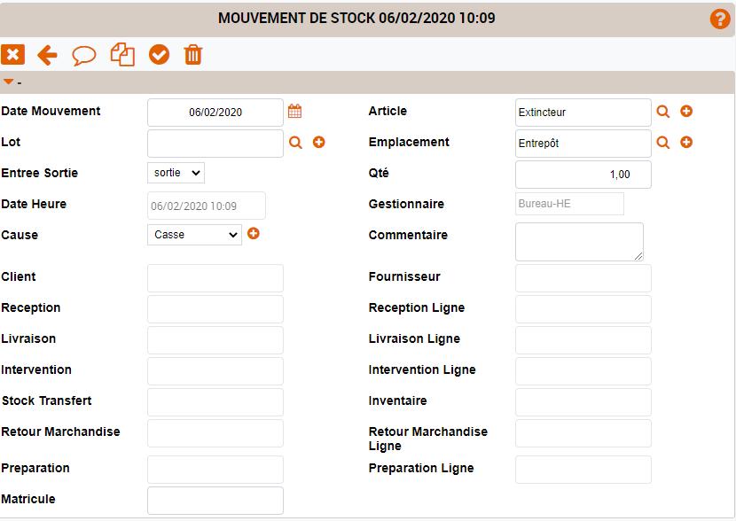 mouvement de stock